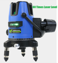 Xeast 12V Green Laser Level 2/3/5 Lines 360 Degrees Rotary 60 Times Auto Laser with 6600MAH battery Cross Line Lazer Level