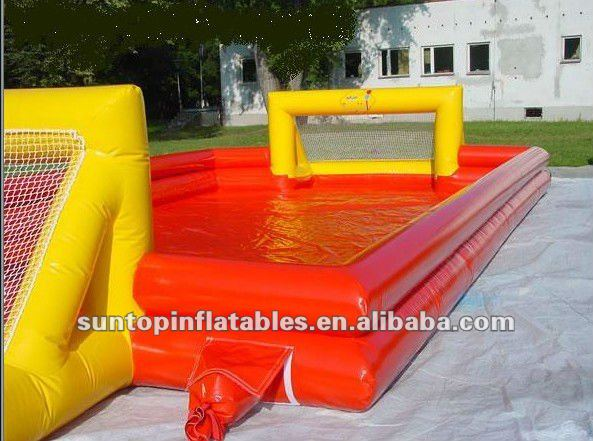 most interesting water inflatable soap football game with best price