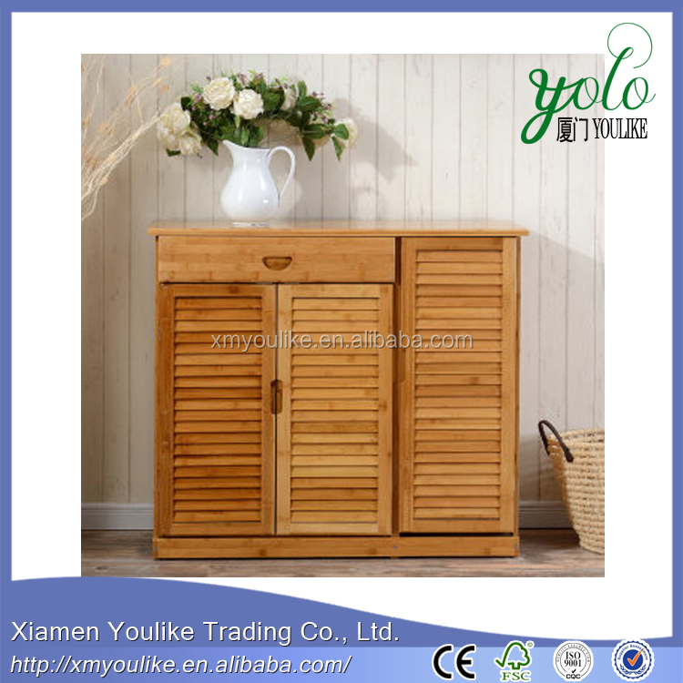 High Quality Breathable design Wholesale bamboo shoe storage rack cabinet
