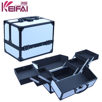 Discount Product Pure White Large Vanity Case With 4 Trays