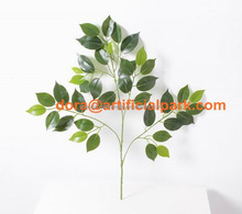 SJH100710 60cm artificial green ficus leaf fake leaf plastic leafs for decorations