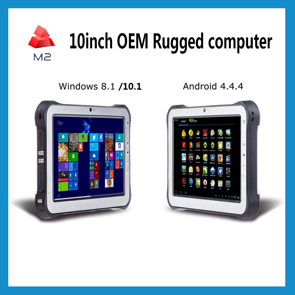 Tablet Rugged PC Waterproof 10inch Tablet Mobile windows 8 10 7 Panel PC mid X86 MINI PC USB HDMI RS232 Handheld computer