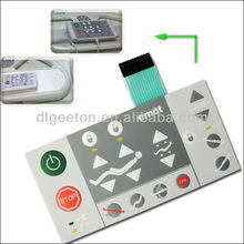 High Quality waterproof Instrument Console Membrane Switch Keypads