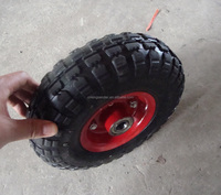 "trailer solid rubber wheel10""X3.50-4"