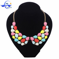 Yiwu Wholesale Handmade Jewelry Colorful Beautiful Design Fashion Collar Necklace