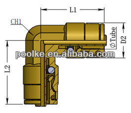 DOT push in fittings (DOT-HUL)