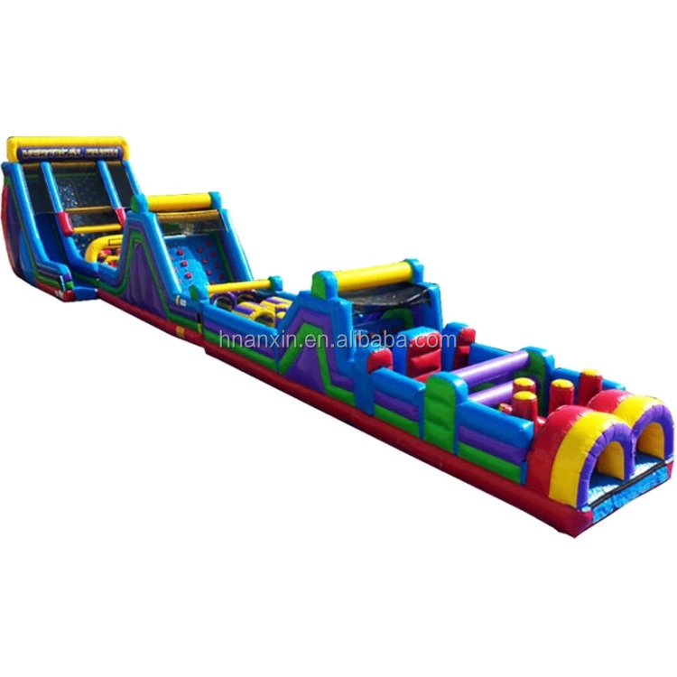 Cheap giant outdoor obstacle courses challenge inflatable party games for adults