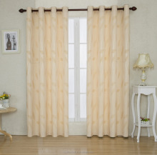 2PCS STRIPE JACQAURED BLACKOUT BRAND NAME CURTAIN FOR HOME DECOR