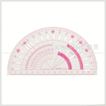 Shanghai Kearing brand transparent plastic french curve ruler protractor for fashion design #P101