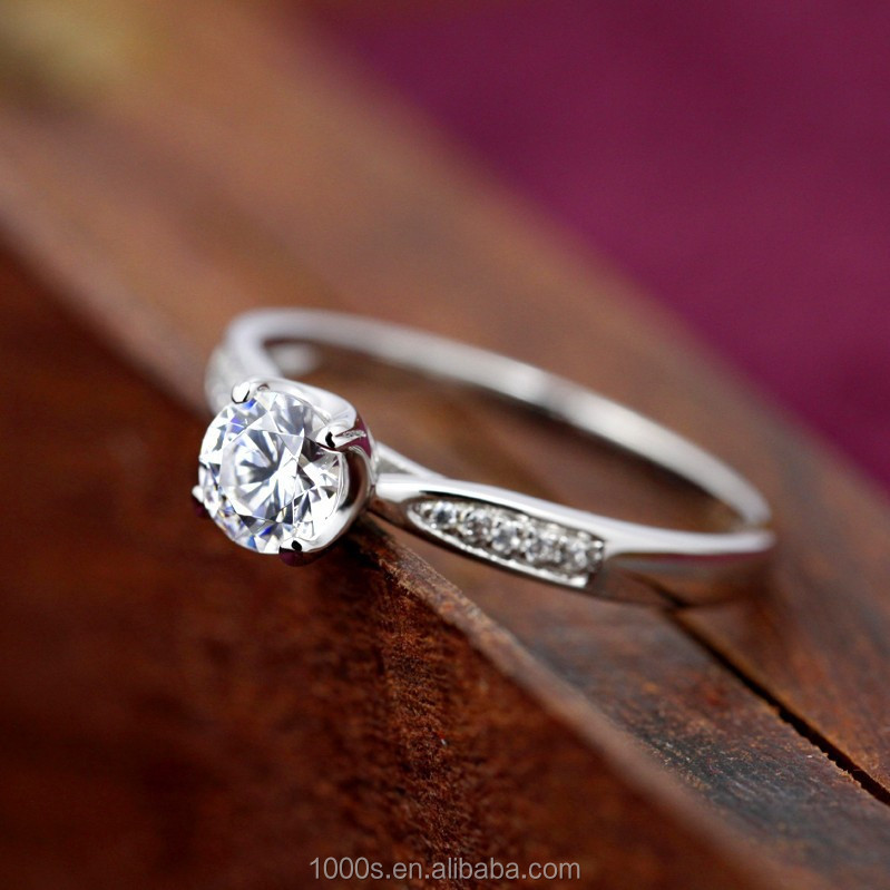 Wholesale 925 Sterling Silver Jewelry, Wedding Engagement Ring With Diamond