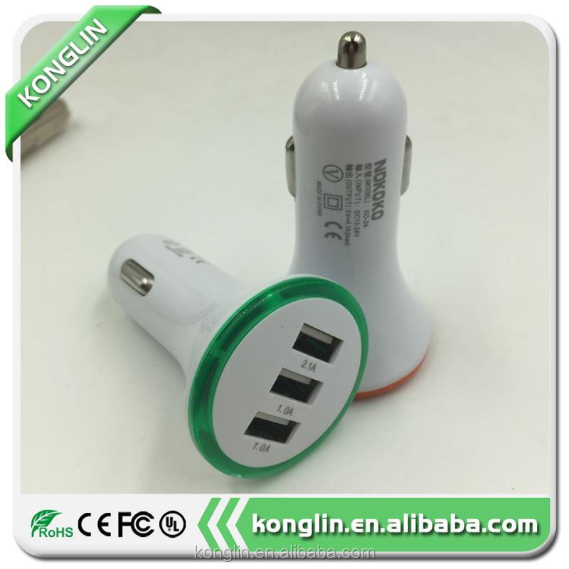 Genuine stand car charger with cable, phone charger cable car charger adapter