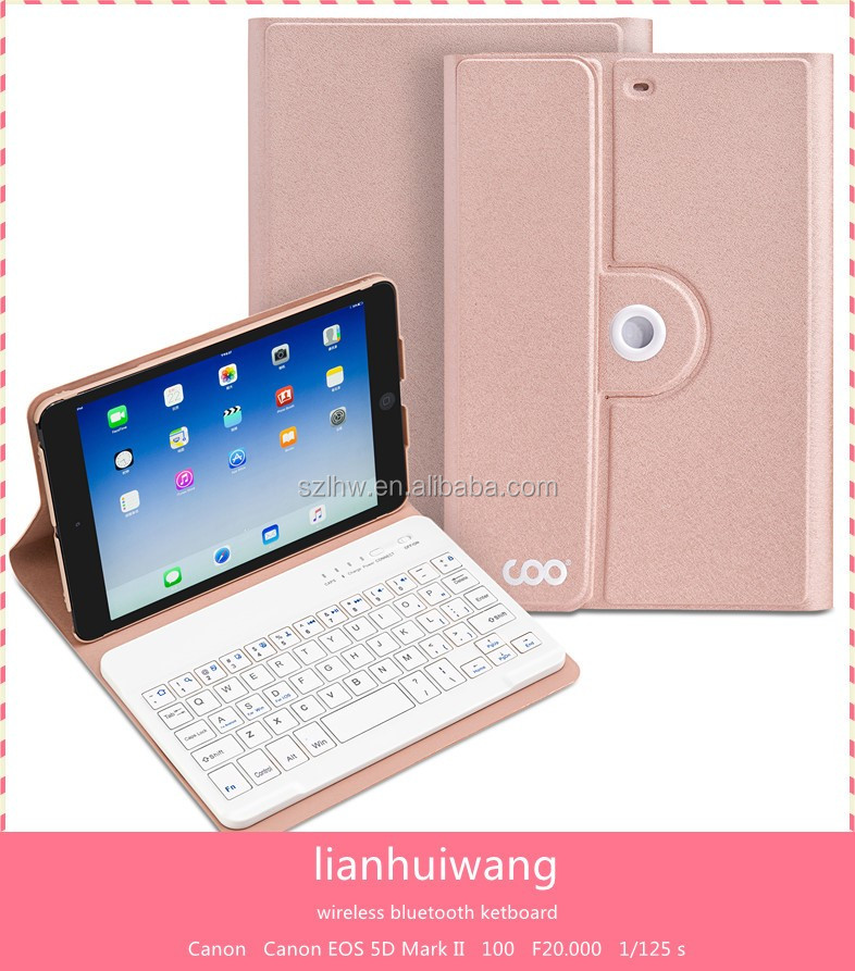 Hot cases keyboard case New Products wireless tablet keyboard case for mini1/2/3