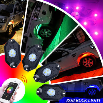 Offroad Wireless Bluetooth Music LED Rock Light for Jeep ATV 4x4 offroad Vehicle Car