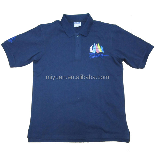 Australia blue embroidery promotional polo t shirt