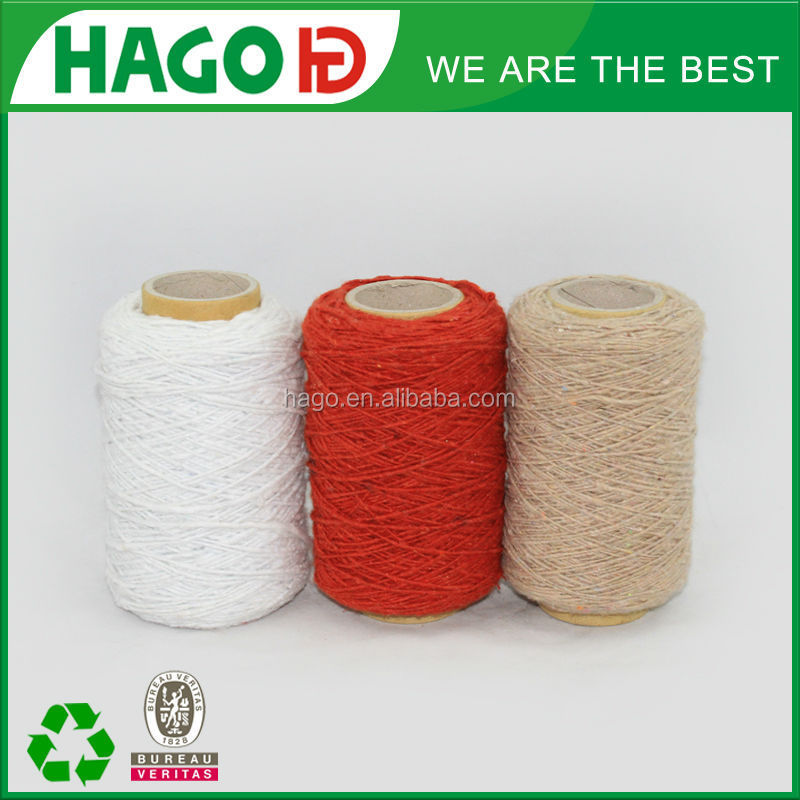 raw material for weft mop yarn--recycled cotton polyester blend yarn