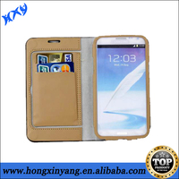 Newest Flip Cover Leather Case For Samsung Galaxy Note 2,Credit Card Wallet Case.