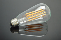 Vintage Light Bulb Retro Edison Style LED long Filament e26 6W - ST64 bulb 2200k