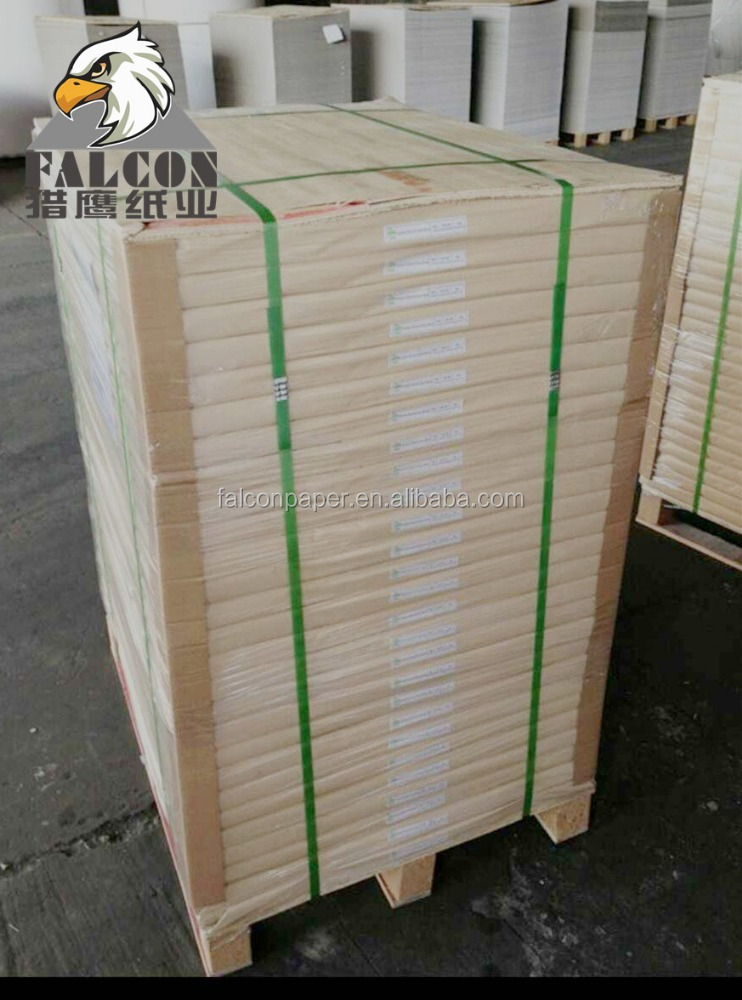 Paper Mill 350gsm One Side White Coated Duplex Board Grey Back In Roll