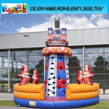 Hot Sale Inflatable Climbing Tower Fire/ Used Rock Climbing Wall for Sale