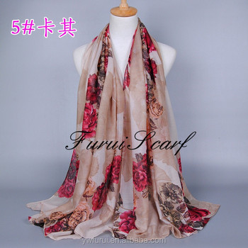 2017 Large Size Soft Viscose Scarf Floral Prints Women Summer Spring Bohemian Style Pashmina Shawl Can Choose Color