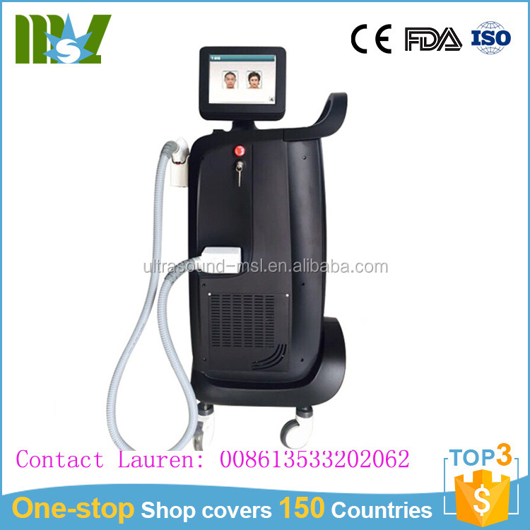 Mix wavelength 755nm alexandrite laser hair removal machine for sale MSLDL01