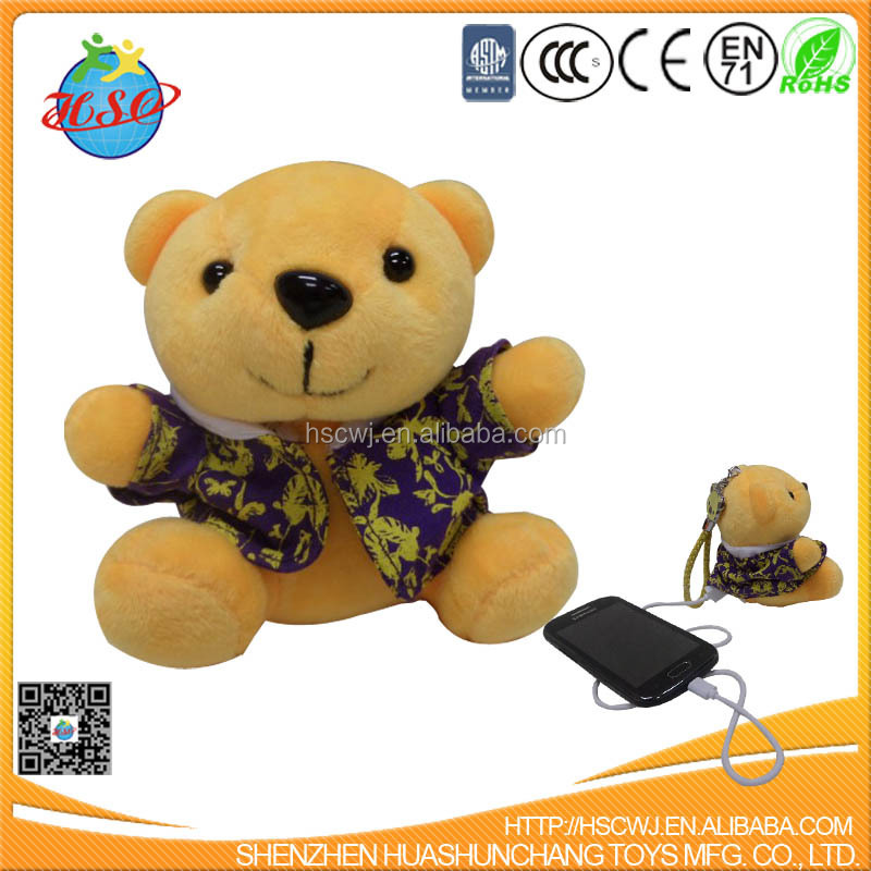 plush bear mobile power
