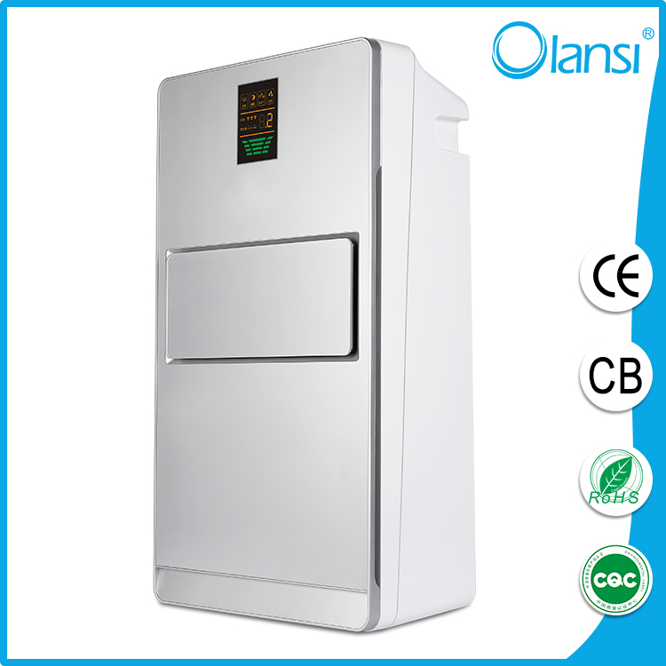 Home care product 2016 fresh portable Olans HEPA home air purifier ionizer for living room with humidifier and dust sensor