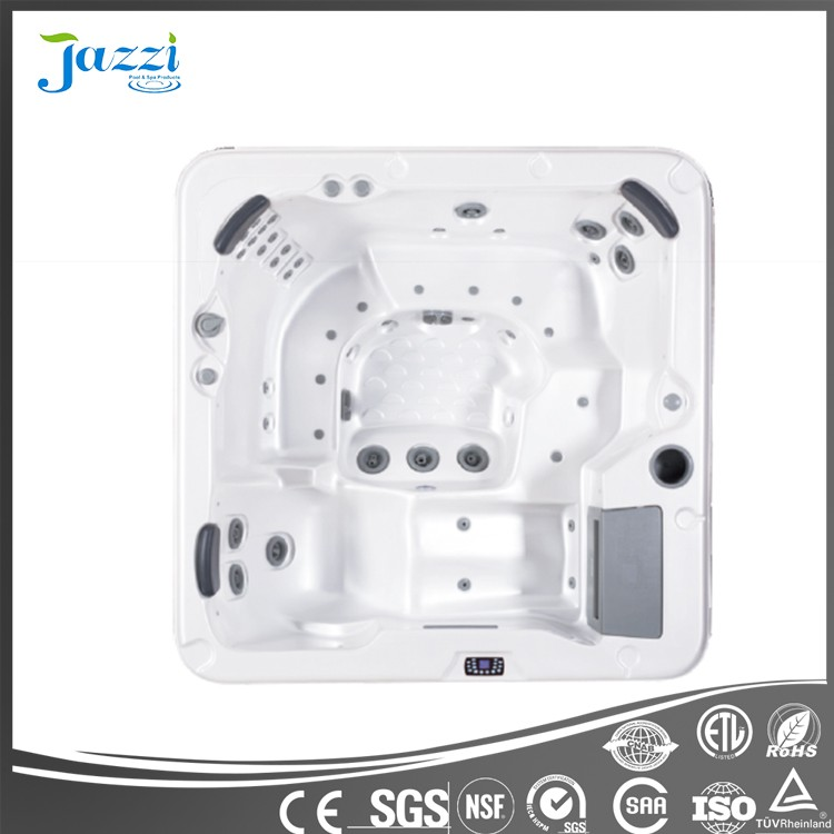 JAZZI Hot Sale balboa control system freestanding acrylic large whirlpool outdoor swimming pool massage used swim spa SKT328