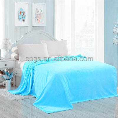 High quality 100% Polyester super soft coral fleece blanket
