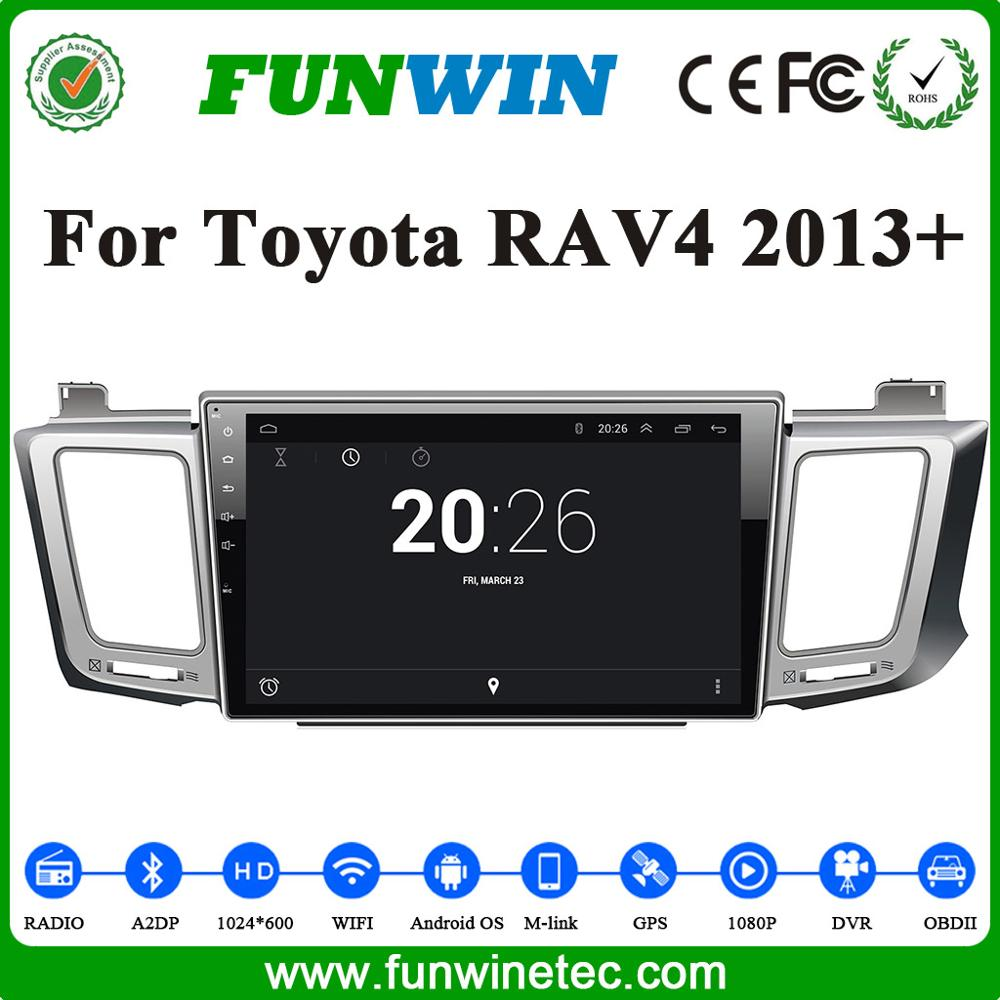 Funwin 10.1 Inch Android Car Dvd Player For Toyota RAV4 2013 With Car GPS Navigation Multimedia System Built In Wifi