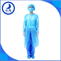 Disposable Long sleeve PP operation hospital surgical gown (ISO,CE,FDA approved)