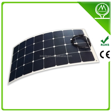 10W 50 W 100W sunpower high efficiency Flexible solar panel