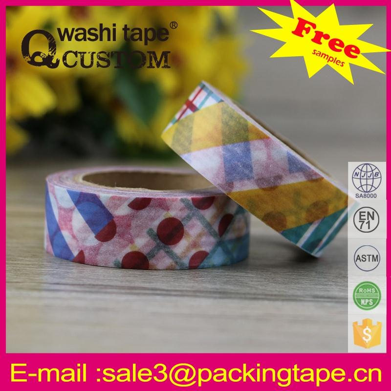 Hot sale printed colorful washi paper tape rice paper for gift and box pakcing