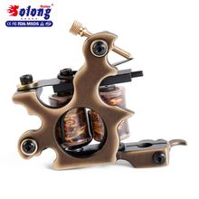 Solong Brand OEM Factory 10 Wraps Pure Copper Tattoo Machine Professional Handmade Coiling Machine Tattoo