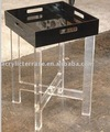 Black Lucite Tray Table(Acrylic Tray Coffee Table)