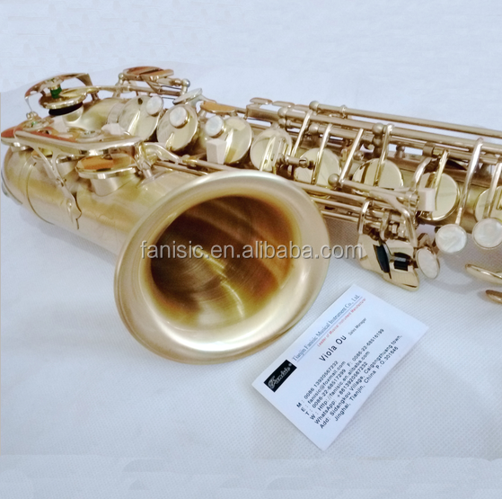 High Grade Wire Drawing Alto saxophone Brass Sax