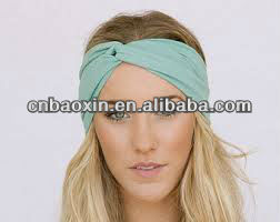 Fashion lady's stretchable polyester jersey headband