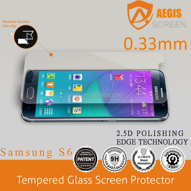 Perfect Fit !3D Full coverage 9H Tempered glass screen protector for Samsung S6/ S6 edge