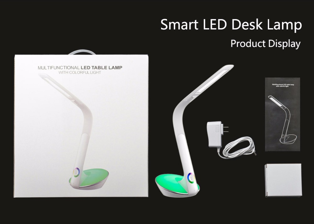 Elegant flexible pipe desk high power led reading lamp