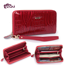 Newest Design RIFD Wallet Fani Factory Wholesale High Quality Shining Genuine Leather wallet for women