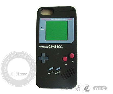 different game machine shape simple silicone phone cover