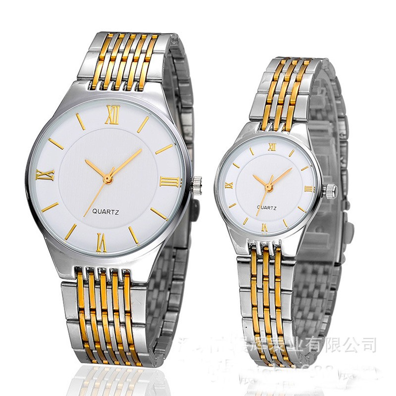 custom dail color stainless steel band couple japan movt quartz watch