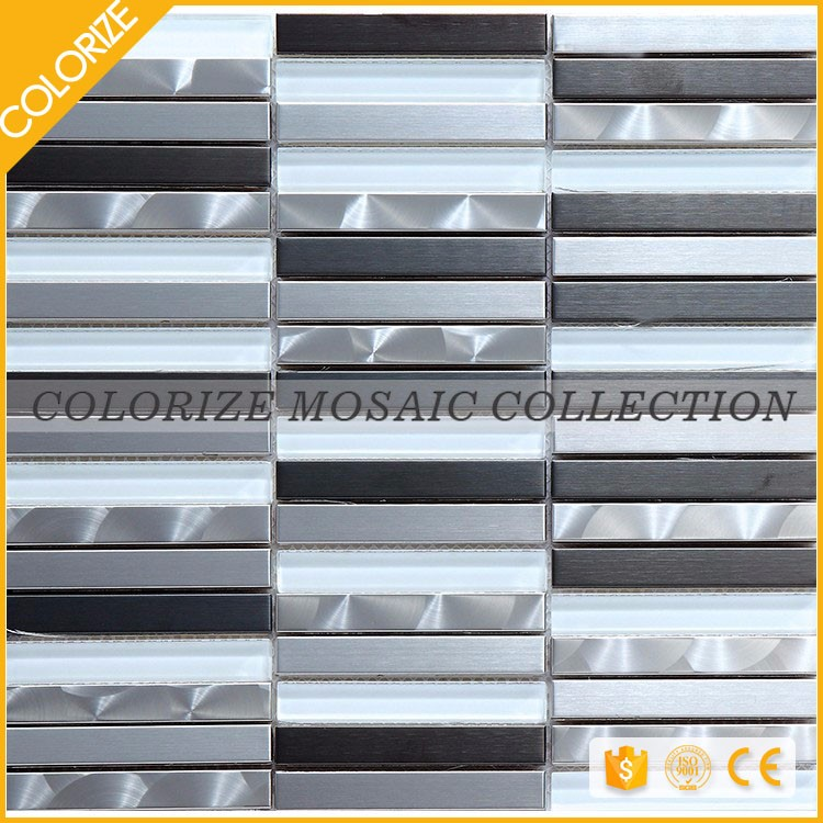 Wholesale Popular Style Mosaic Glass Stone Metal Mix