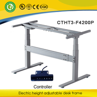 Electric height adjustable computer table with lifting leg for desk