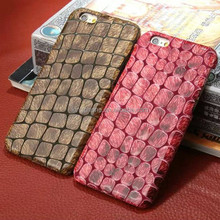 "Stone/mouse pattern cell phone case for iphone 6 4.7"" with factory price genuine leather case"