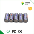 ICR17335 650mAh 3.7V Li-ion battery rechargeable, icr 17335 li-ion cylinder battery for digital camera/flashlight