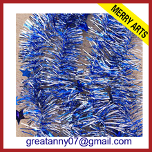 Glitter wedding foil decorations wholesale blue star cheap christmas tinsel