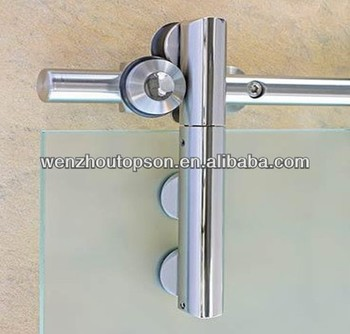 round glass sliding barn door roller