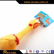 Mini plastic animal toys pet rubber chicken latex squeeze toys