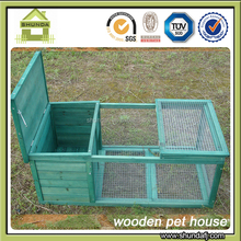 SDR07 Classic Green Wooden Rabbit Hutch with Run